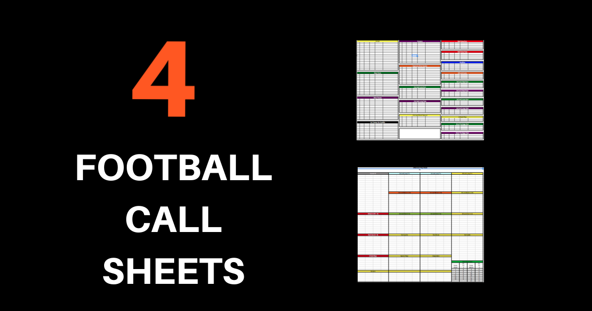 Sheet Template In Pdf | 4 Football Call Sheets Free To Download And Print Pro Style